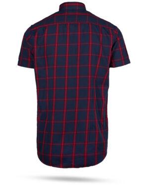 پیراهن مردانه چهارخانه 4011- قرمز (2)