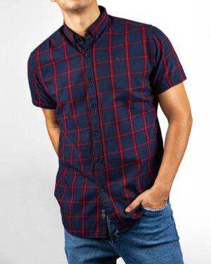 پیراهن مردانه چهارخانه 4011- قرمز (6)