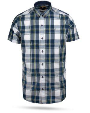 پیراهن مردانه چهارخانه 4028- سرمه ای (1)