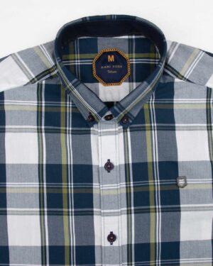پیراهن مردانه چهارخانه 4028- سرمه ای (5)