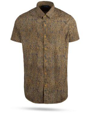 پیراهن مردانه 4021- خردلی (1)