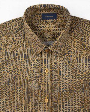 پیراهن مردانه 4021- خردلی (3)