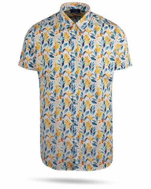 پیراهن مردانه 4021- زرد (1)