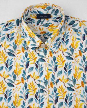 پیراهن مردانه 4021- زرد (3)