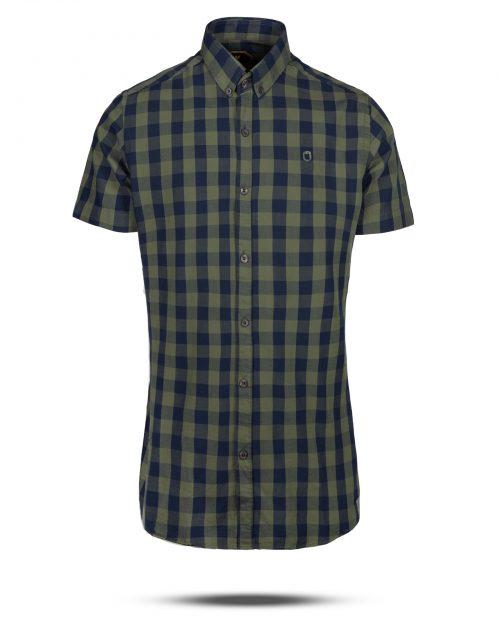 پیراهن چهارخانه مردانه 4018