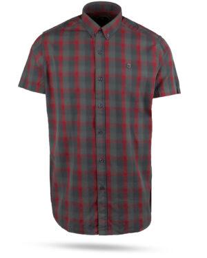 پیراهن چهارخانه مردانه 4019- زرشکی (1)