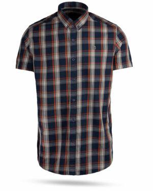 پیراهن چهارخانه مردانه 4019- سرمه ای (1)