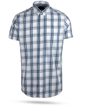 پیراهن چهارخانه مردانه 4019- سفید (1)