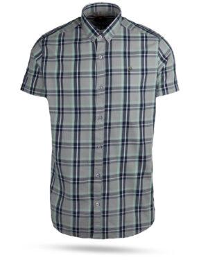 پیراهن چهارخانه مردانه 4019- طوسی کمرنگ (1)