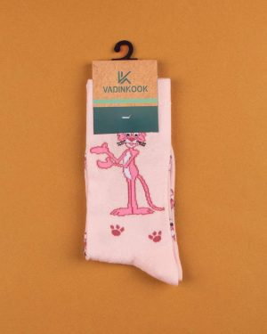 جوراب نخی ساق دار S25- صورتی (1)