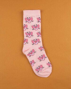 جوراب نخی ساق دار S25- صورتی (2)