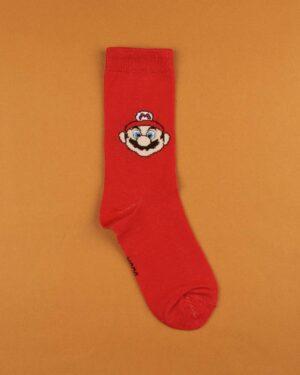 جوراب نخی ساق دار S25- قرمز (2)