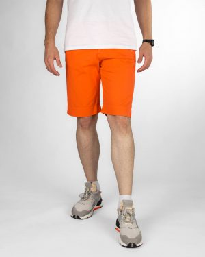 شلوارک مردانه کتان VK003- نارنجی تیره (1)