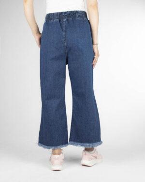 شلوار جین زنانه 80002- آبی تیره (1)