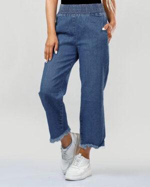 شلوار جین زنانه 80002- آبی تیره (9)