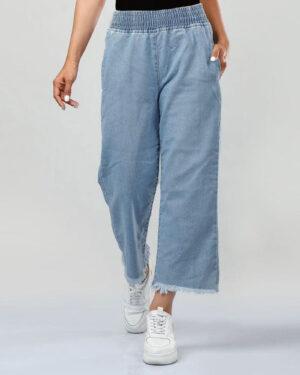شلوار جین زنانه 80002- آبی (1)