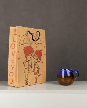 پاکت کادویی Bag01- بادامی (2)