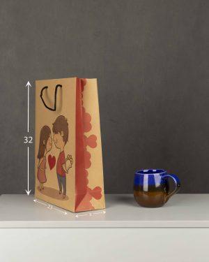 پاکت کادویی Bag01- خاکی (2)