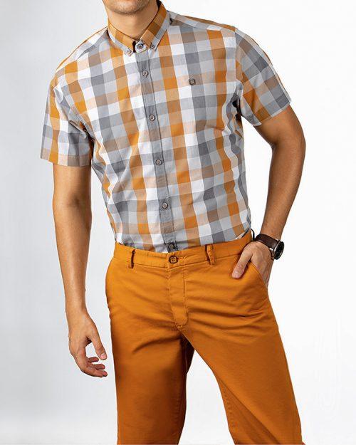 پیراهن مردانه آستین کوتاه 4027