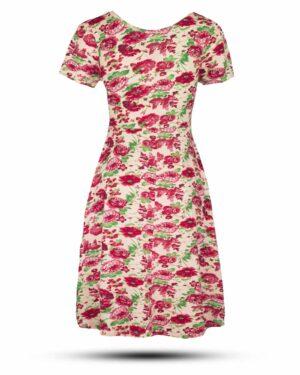 پیراهن نخی زنانه 1360- ارغوانی روشن (1)