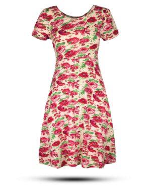 پیراهن نخی زنانه 1360- ارغوانی روشن (2)