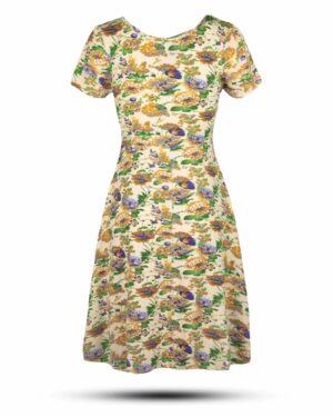 پیراهن نخی زنانه 1360- طلایی (1)