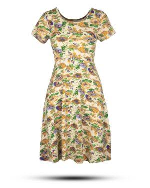 پیراهن نخی زنانه 1360- طلایی (2)