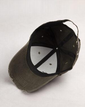 کلاه کپ مردانه K158-T3- زیتونی سیر (4)