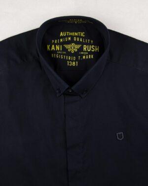 پیراهن آستین کوتاه مردانه 4032- سرمه ای تیره (6)