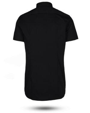 پیراهن آستین کوتاه مردانه 4032- مشکی (2)