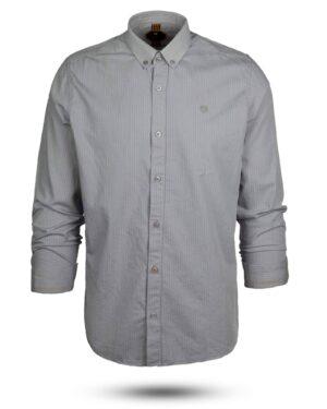 پیراهن راه راه مردانه 4409- طوسی (1)