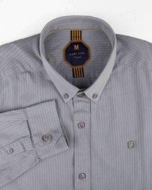 پیراهن راه راه مردانه 4409- طوسی (4)