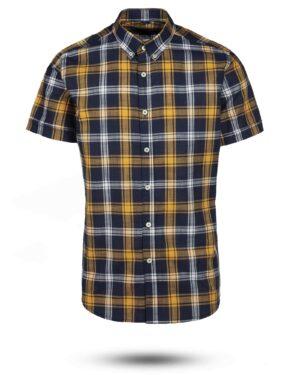 پیراهن مردانه آستین کوتاه VK9919- زرد (1)