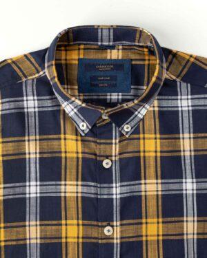 پیراهن مردانه آستین کوتاه VK9919- زرد (4)