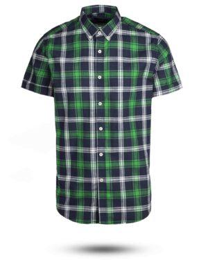 پیراهن مردانه آستین کوتاه VK9919- سبز (1)