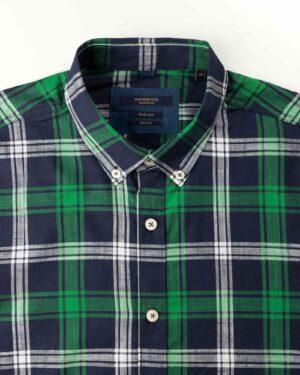 پیراهن مردانه آستین کوتاه VK9919- سبز (4)