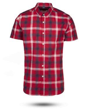 پیراهن مردانه آستین کوتاه VK9919-قرمز (1)