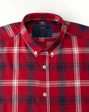 پیراهن مردانه آستین کوتاه VK9919-قرمز (3)