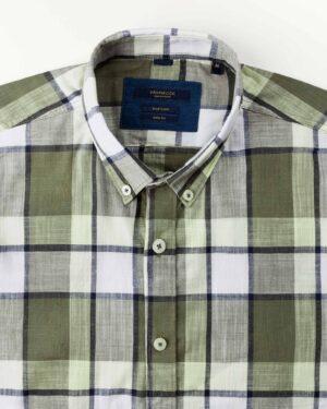 پیراهن مردانه آستین کوتاه VK9919- لیمویی (4)