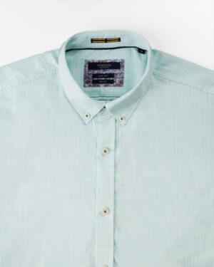 پیراهن مردانه آستین کوتاه VK992- سبزآبی روشن (3)