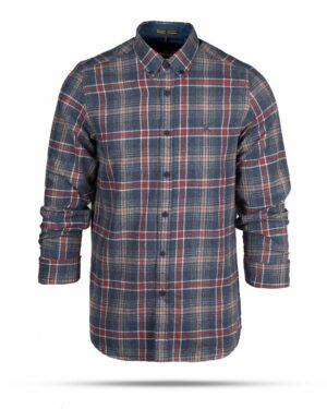 پیراهن پشمی مردانه VK9911- آبی بنفش (1)