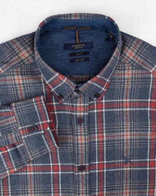 پیراهن پشمی مردانه VK9911- آبی بنفش (7)