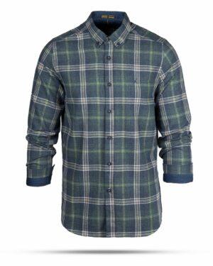 پیراهن پشمی مردانه VK9911- آبی نفتی (1)