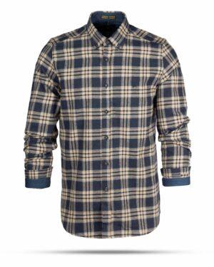 پیراهن پشمی مردانه VK9911- سرمه ای تیره (1)