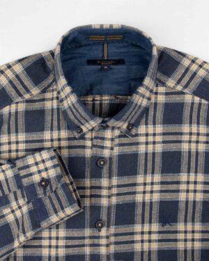 پیراهن پشمی مردانه VK9911- سرمه ای تیره (4)