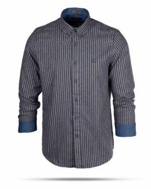 پیراهن پشمی مردانه VK9911- سرمه ای (1)