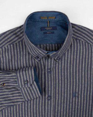 پیراهن پشمی مردانه VK9911- سرمه ای (3)