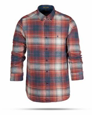 پیراهن پشمی مردانه VK9911- قرمز روشن (2)