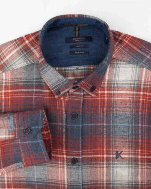 پیراهن پشمی مردانه VK9911- قرمز روشن (4)