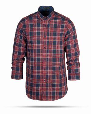 پیراهن پشمی مردانه VK9911- قرمز (1)